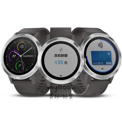 garmin vivolife 悠遊智慧腕錶 全天候心率壓力監測-石墨灰 (5.6折)