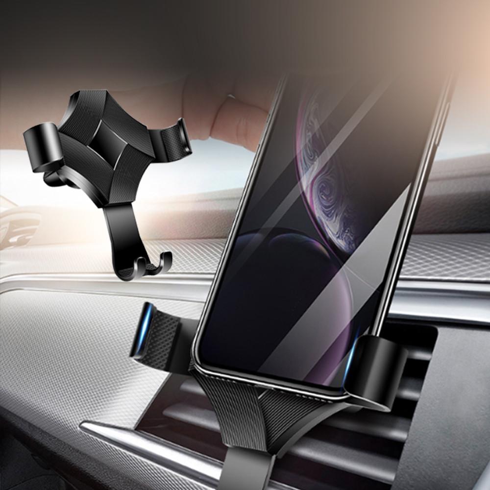 鋁合金重力感應360度旋轉車用手機支架