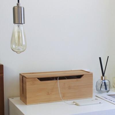 【LIGFE立格扉】全原木簡約竹木集線盒