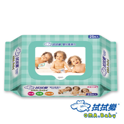 【拭拭樂】嬰兒柔濕巾25抽 (厚款隨手包) (5.3折)