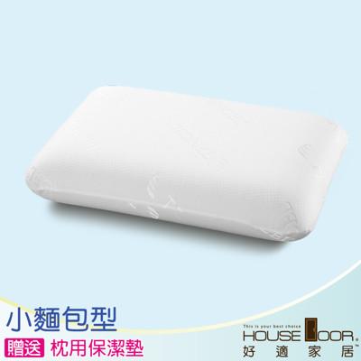 【House Door】親膚性高釋壓記憶枕 TENCEL 天絲舒柔表布-小麵包型(贈枕用保潔墊) (6.5折)