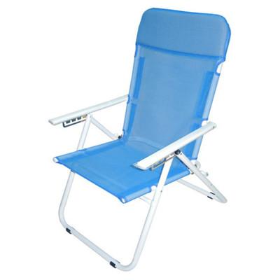 【MSL】五段式透氣帆布休閒椅(藍色) (5.5折)