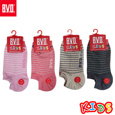 BVD簡約條紋氣墊童踝襪-B262.B263 (童襪/短襪/低口襪) (5.6折)