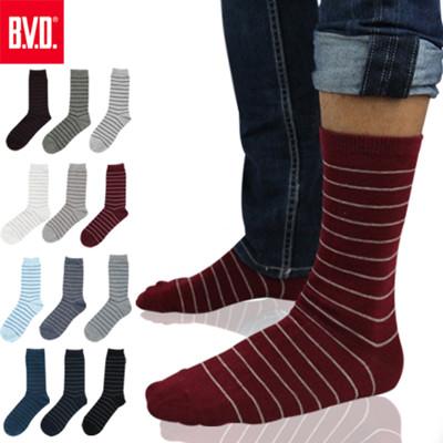 BVD細條紋男襪- B207(襪子/長襪/休閒襪) (7折)