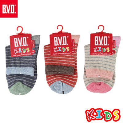 BVD自在條紋3/4童襪-B260.B261 (童襪/短襪) (5.6折)