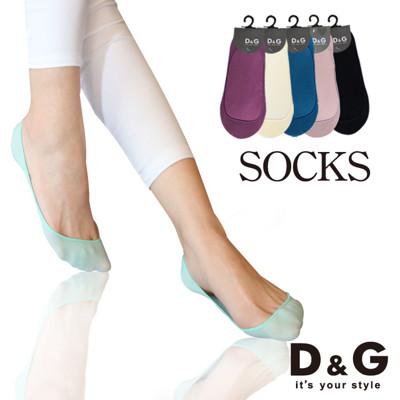 D&G仿絲極細針船襪-D206 (女襪/襪子/隱形襪) (5.7折)