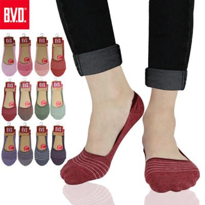 BVD簡約條紋休閒女襪套-B248 女襪/襪子/隱形襪 (6.6折)