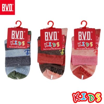 BVD條紋海錨3/4童襪-B258.B259 (童襪/短襪) (5.6折)