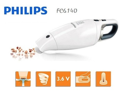 PHILIPS飛利浦手提充電式吸塵器 FC6140 / FC-6140 贈3M隨手黏乙支 (8.3折)