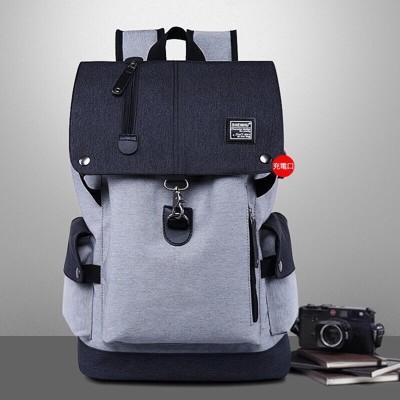韓版防潑水後背包|升級防盜扣|外置USB充電孔 (8.3折)