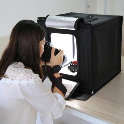 40CM專業折疊LED攝影棚 送6種背景板 (9.3折)