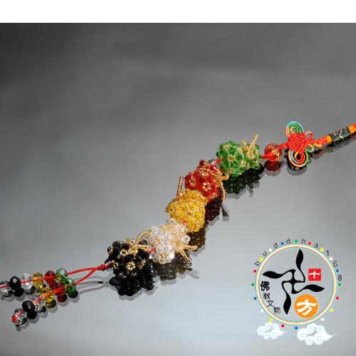 五路招財錢袋掛飾十方佛教文物