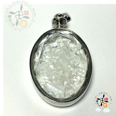橢圓水晶能量寶瓶5.4*3.2*1.3公分 【 十方佛教文物】 (3折)