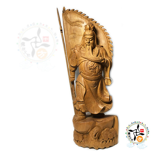 關聖帝君{檀香木}   十方佛教文物