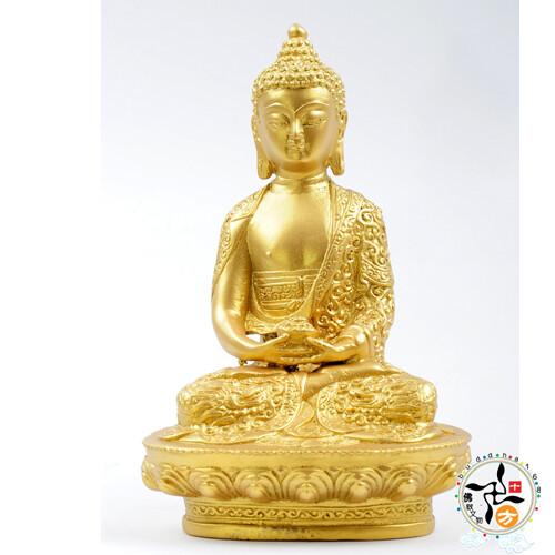 阿彌陀佛(銅/泥金)  十方佛教文物