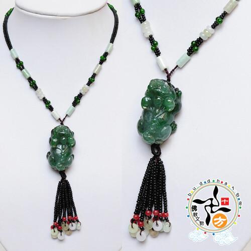 油青貔貅項鍊 十方佛教文物