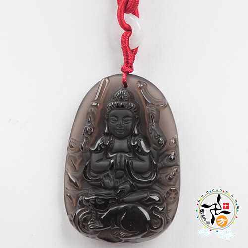 千手觀音(冰種黑曜)項鍊十方佛教文物
