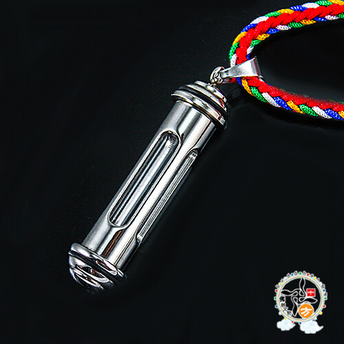透明四孔 嘎屋管 鋼合金項鍊 十方佛教文物