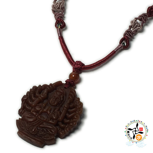 千手觀音 紅玉髓 五色線項鍊十方佛教文物