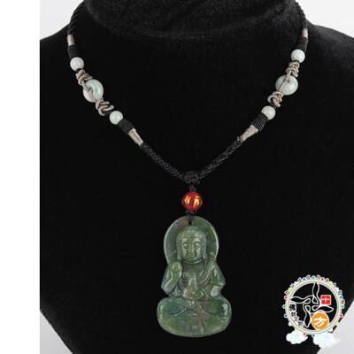 藥師佛{七彩玉/印度瑪瑙}項鍊【 十方佛教文物】 (7.1折)