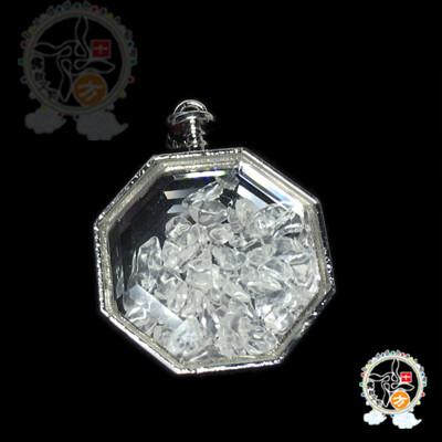 八角水晶能量寶瓶 3.9*1.3*5公分【 十方佛教文物】 (3折)