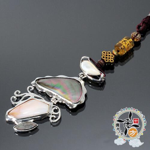 吉祥結&硨磲寶石掛飾十方佛教文物