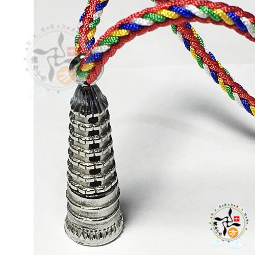 文昌塔 鋼 黑繩項鍊十方佛教文物