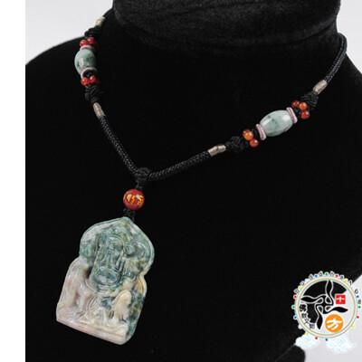 玄天上帝(七彩玉)項鍊【十方佛教文物】 (8折)
