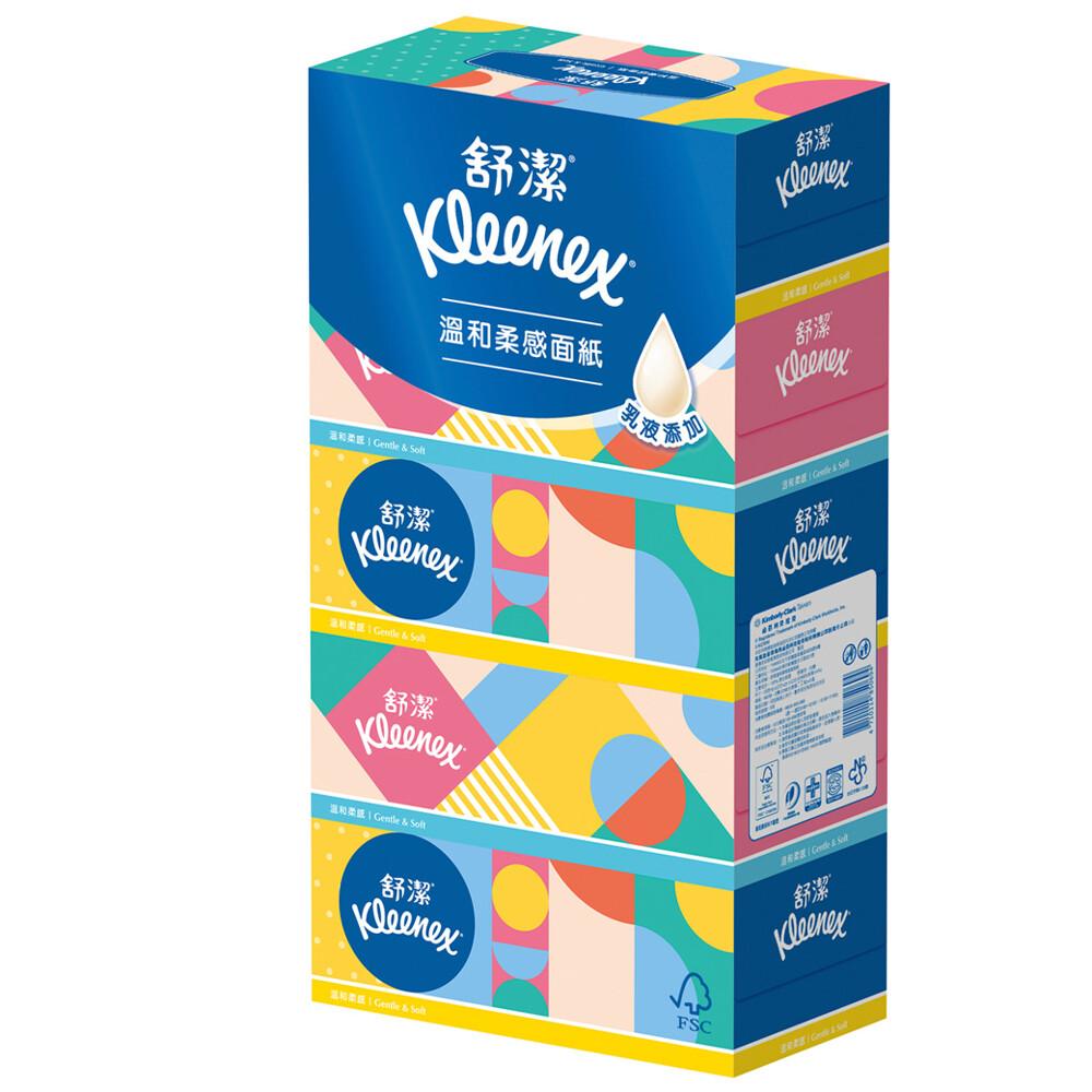 舒潔 溫和柔感盒裝面紙160抽(5盒x10串/箱)