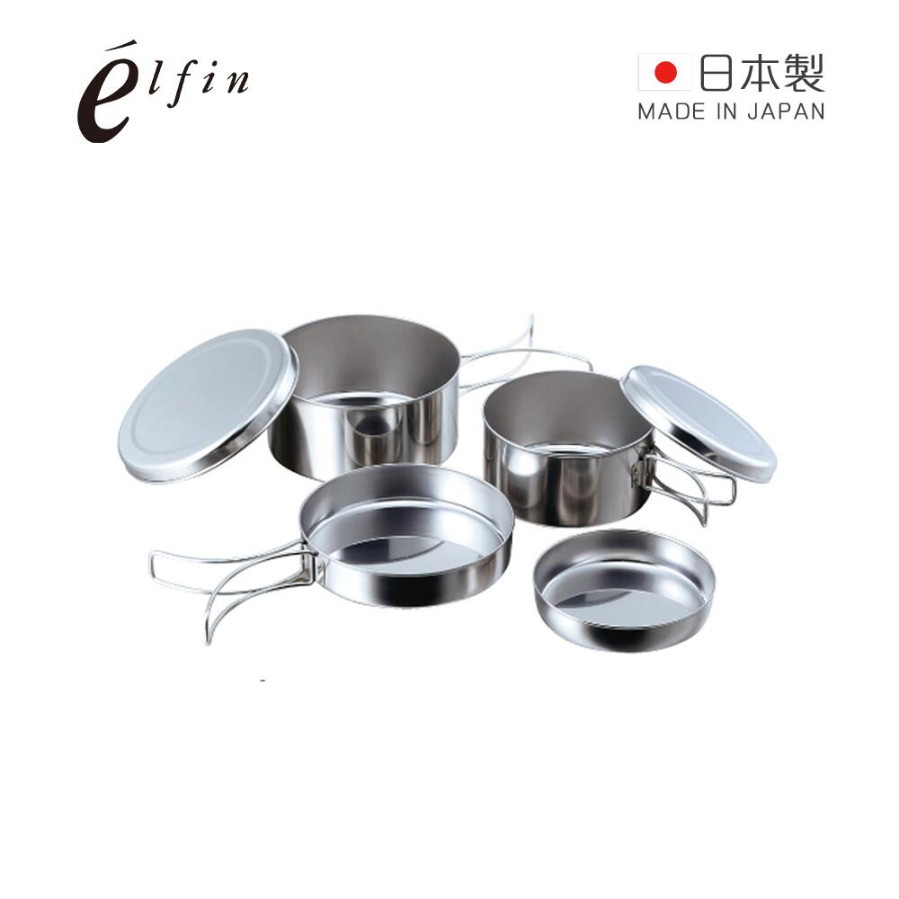 日本高桑金屬日製不鏽鋼鍋碗盤萬用標準4件組
