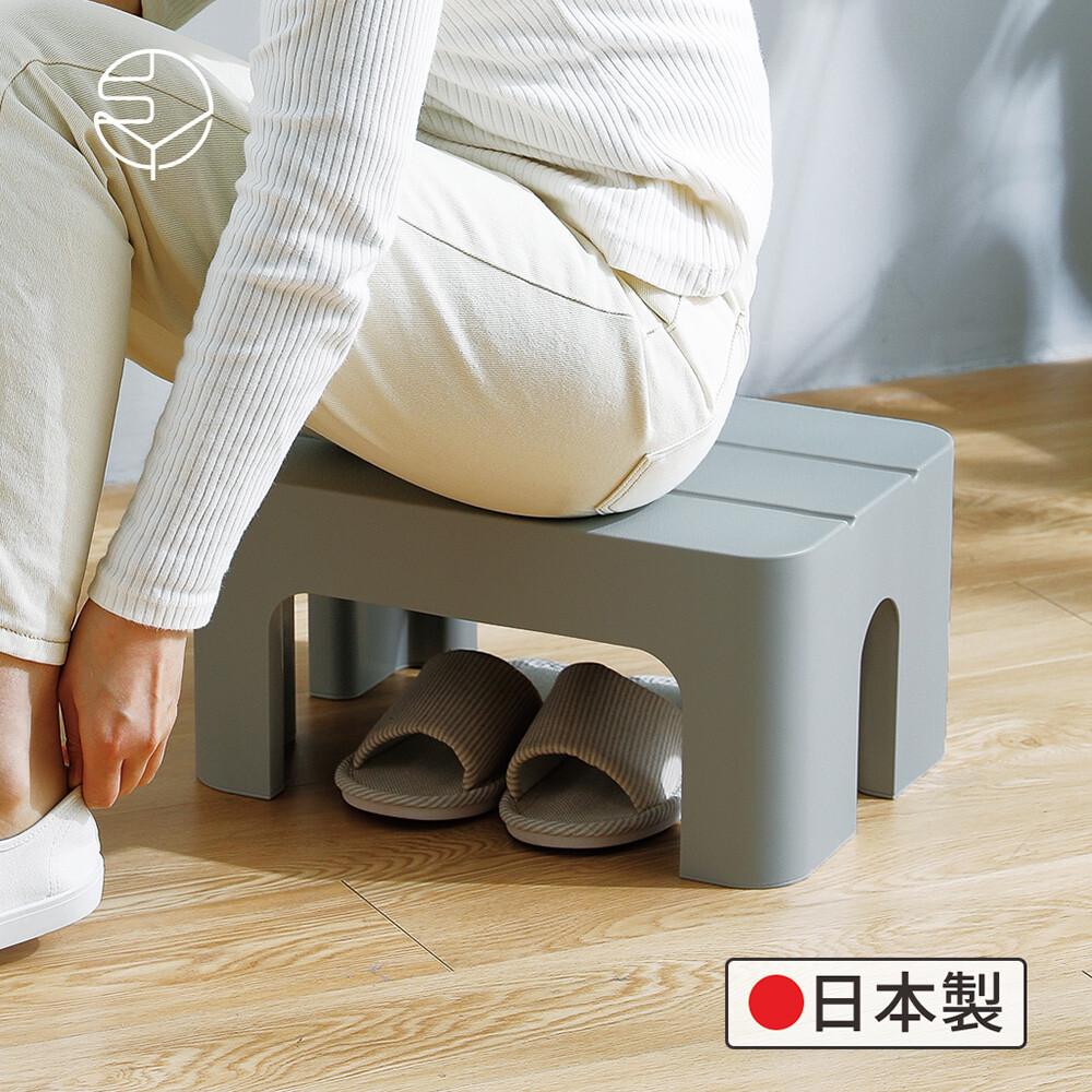 日本霜山日製防滑耐重浴室/戶外多用途腳踏坐凳