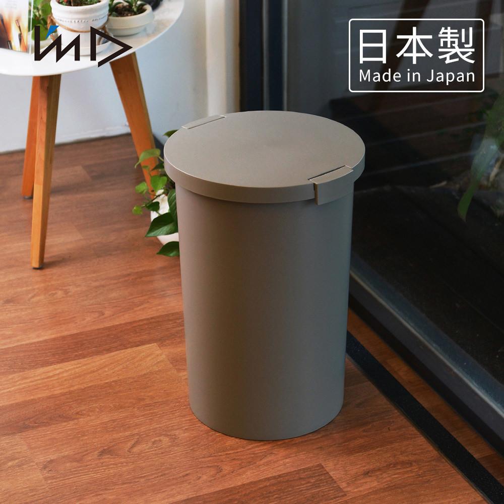 日本岩谷iwatani圓形封扣蓋室內/室外防臭垃圾桶-26l