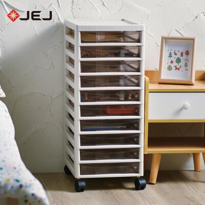 【日本JEJ】辦公移動式A4文件收納櫃-10小抽