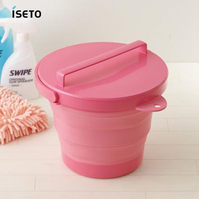【nicegoods】日本ISETO 伸縮折疊式防滑水桶(附蓋子)-8L (5.4折)