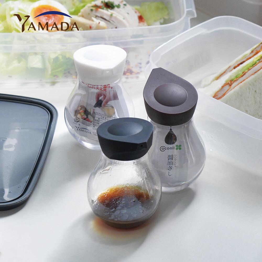 日本山田yamada按壓定量式pet油醋醬料分裝瓶-140ml-3入組(三色)