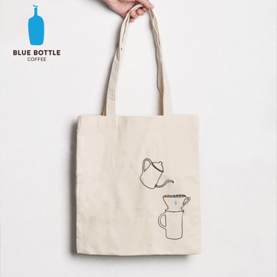 【美國Blue Bottle】100%有機棉隨身手提肩背袋-2018肩背加長版 (6.6折)
