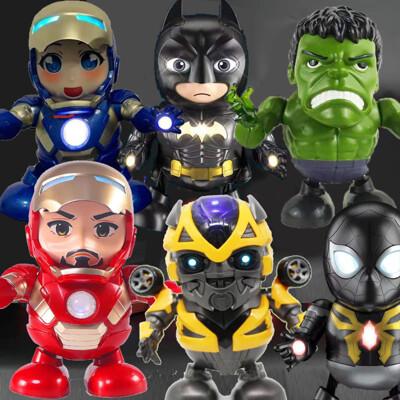 鋼鐵俠 跳舞機器人  蜘蛛人 美國隊長機器人 大黃蜂跳舞 DJ鋼鐵人 薩諾斯 女鋼鐵人 蝙蝠俠 (2.6折)