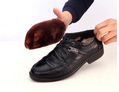 【聰明居家】仿羊絨超柔暖 手套式便利擦鞋布 (1.4折)