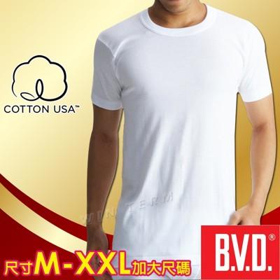 BVD 100%美國棉優質圓領短袖衫-台灣製造 (4.5折)