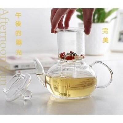 玻璃直火耐熱茶壺/花茶壺(900cc) (5折)