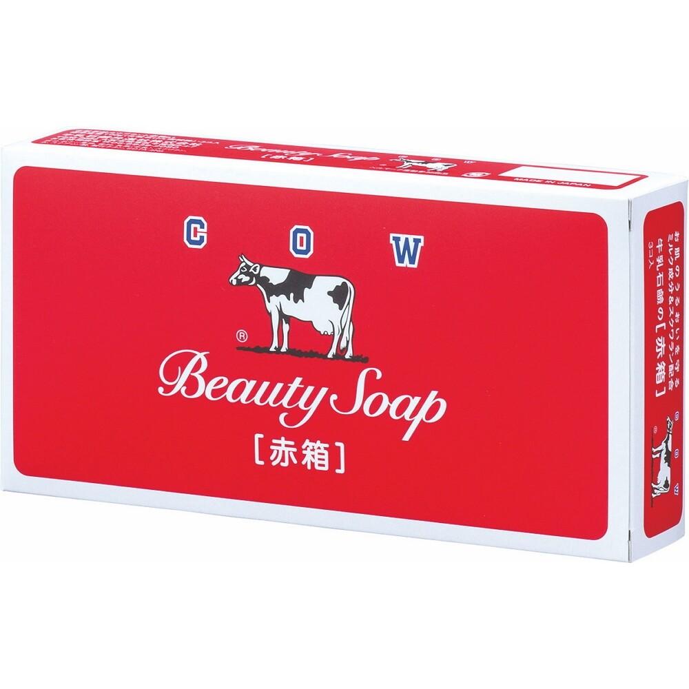 日本原裝進口 牛乳石鹼-紅盒香皂(玫瑰滋潤型)85g*3入裝