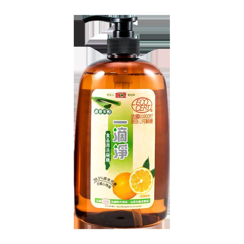 一滴淨蘆薈多酚食品用洗碗精1000g 柑橘