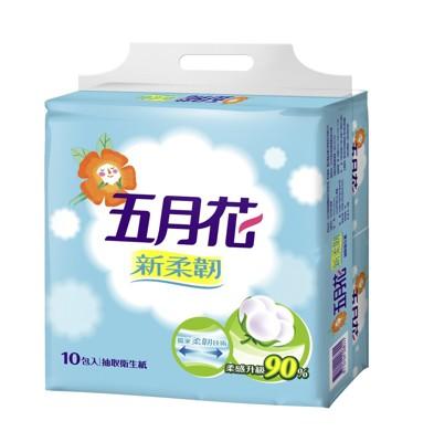 五月花抽取式衛生紙100抽60包 (7折)