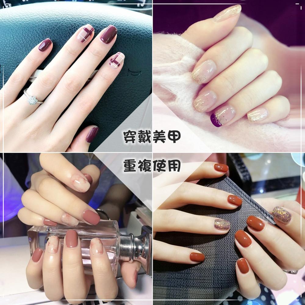 the nail bar自然貼片 彩繪  指甲貼片 美甲成品 穿戴式 可重複使用-2