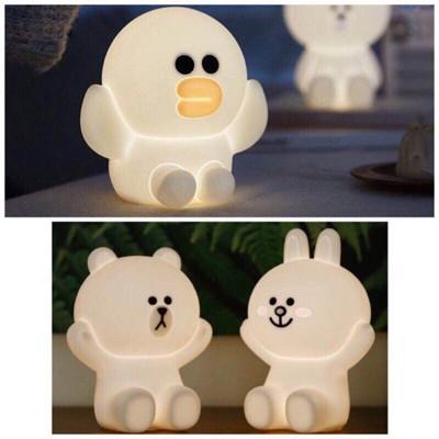 (現貨) 布朗熊 / 可妮兔/莎莉 /流氓兔/米飛兔16CM (任選) 熊大燈 LINE 觸碰小夜燈 (5.5折)