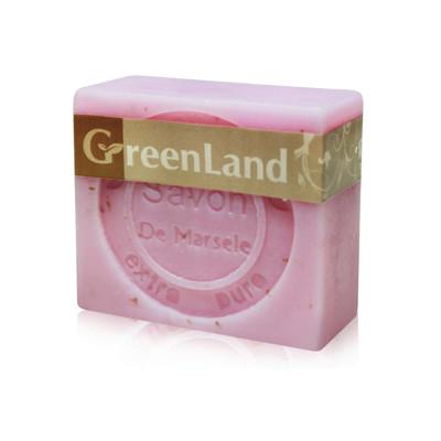 GreenLand 72%初榨橄欖油玫瑰馬賽皂90g(6入)組 (0.4折)