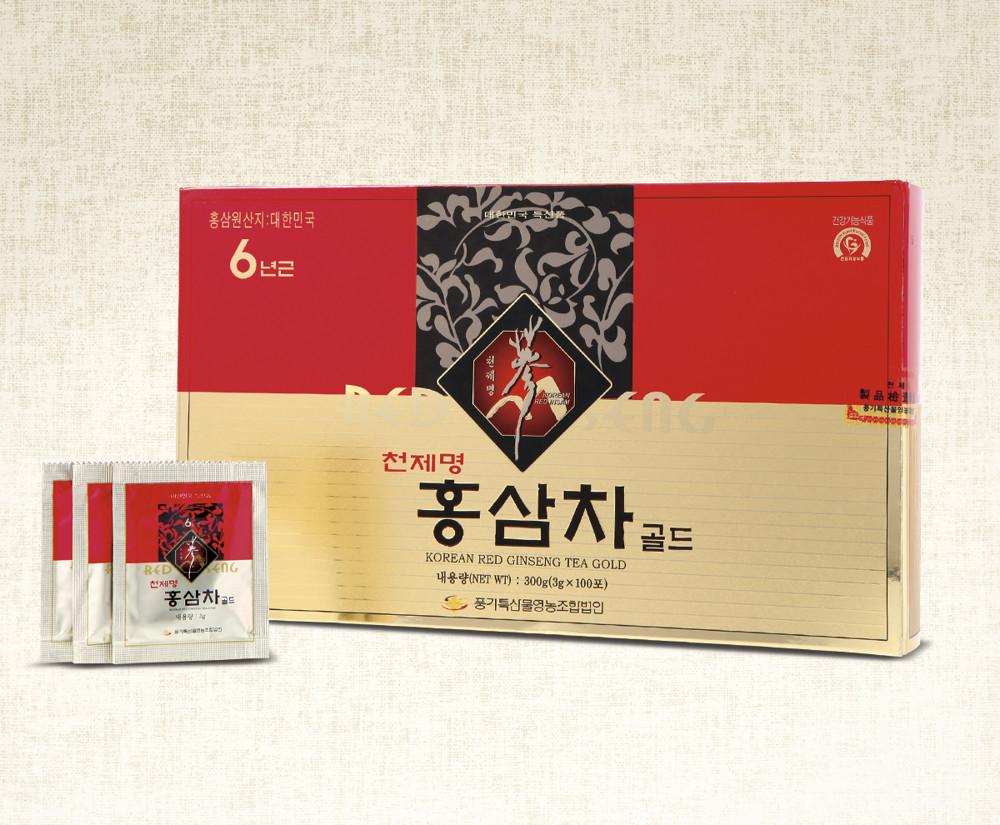 天第名紅蔘6年根高麗蔘茶gold(100包)