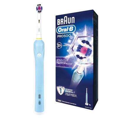 【德國百靈Oral-B】歐樂B全新升級3D電動牙刷 PRO500 ◤加贈牙線棒+牙膏◢ (7.9折)