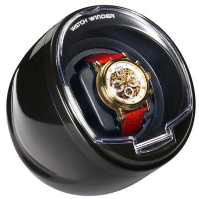 全新腕錶自動腕錶上鍊機蛋型單只裝(黑) (6.4折)