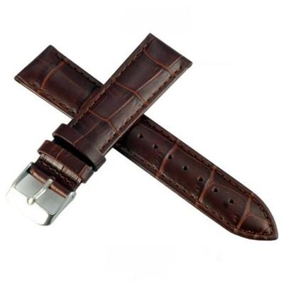 進口高級義大利牛皮鱷魚壓紋通用型錶帶(咖啡) (5.8折)